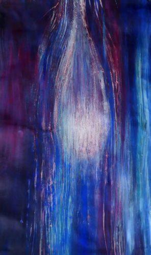 Peinture énergétique - Catherine Stutzmann - Avant la délivrance du cœur