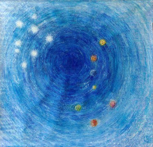 Peinture énergétique - Catherine Stutzmann - Soleil et ses enfants