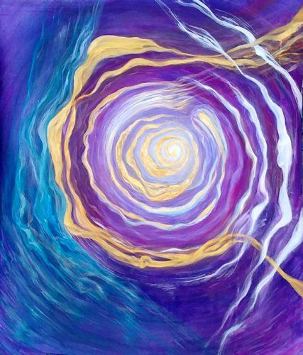Peinture énergétique - Catherine Stutzmann - Création d'un monde