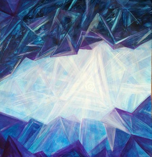 Peinture énergétique - Catherine Stutzmann - Cristal Intérieur