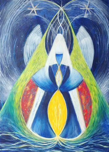 Peinture énergétique - Catherine Stutzmann - Déesse de la Terre
